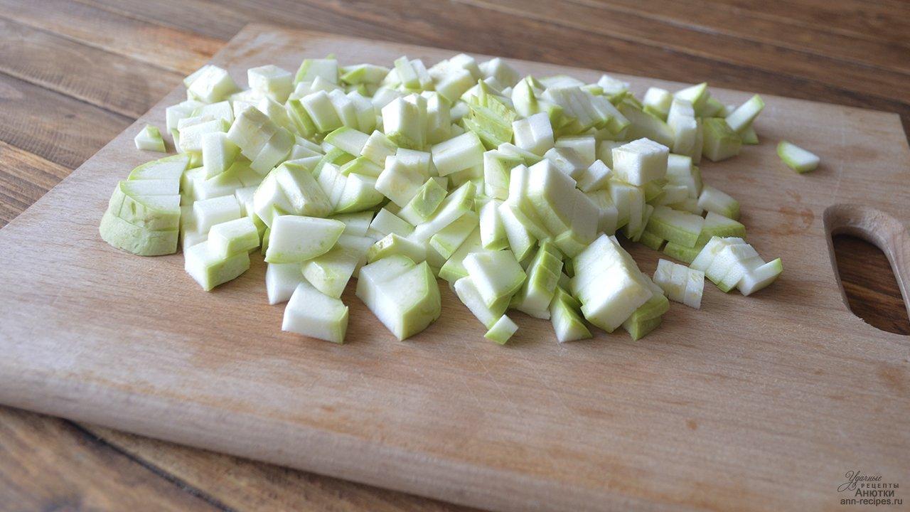 Замороженные кубики кабачков оптом