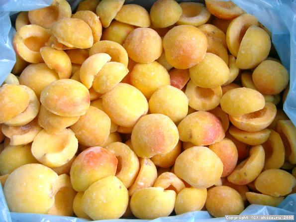 Замороженные половинки абрикоса оптом