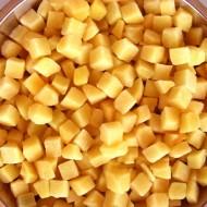 Персик кубики